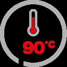 max temp 90°C