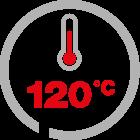max temp 120°C