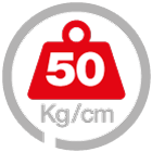 max load 50 [Kg/cm]