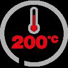 max temp 200°C